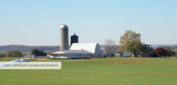 Over 1,000 acres of preserved farmland